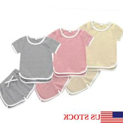 2pcs toddler kid baby boy girls t