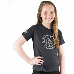 Horze Abbie Kids T-shirt - Dark Navy All Sizes