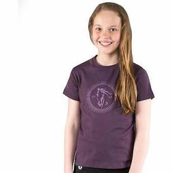 Horze Abbie Kids T-shirt Short Sleeve - Grape Juice Purple A
