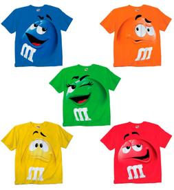 Adult & Youth Kids M&M's M&M Face Chocolate Candy Costume T-