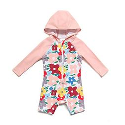 Baby & Toddler Swimsuit Girls One-Piece Long Sleeve with UPF