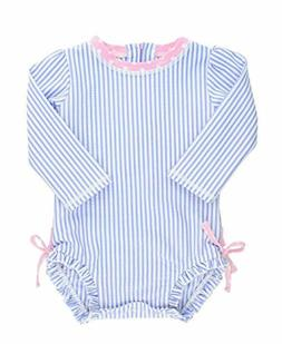 Baby/Toddler Girls Long Sleeve One Piece Swimsuit with UPF 5