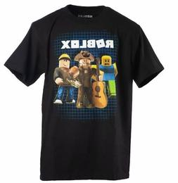 Boys Kids Roblox Character Black Tee T-Shirt S-8, M-10/12, L