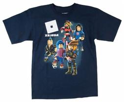 Boys Kids Roblox Characters S/S Tee Top T-Shirt Navy S 8, M