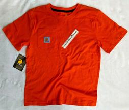 Carhartt boys Pocket T-Shirt BLAZE ORANGE hunt CA8667 JUST L
