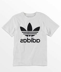 adidas Boys Trefoil White T-Shirt, NW/Price tag only, Size L