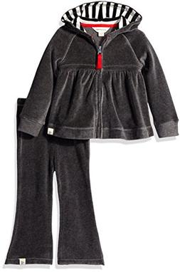 Burt's Bees Baby Baby Girls' Hoodie and Pant Set -Charcoal H