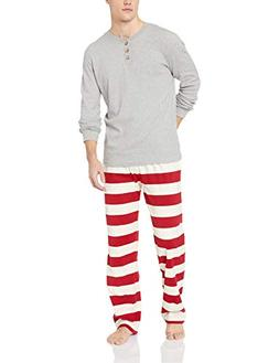 Burt's Bees Baby Big Family Jammies, Cranberry Rugby Stripe,