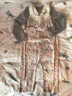 Burt's Bees Baby New NWT 6 6Y Watercolor Mountain Overalls T