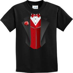 Buy Cool Shirts Kids Tuxedo T-shirt Red Vest Youth Tee