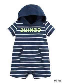 CARTER'S Baby Boys'  Hooded French Terry Romper Size 9 Month