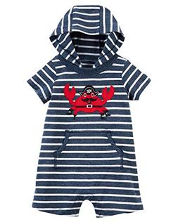 Carter's Baby Boys' Hooded French Terry Romper