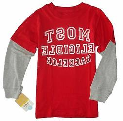CARTER'S BOYS TOP TEE SHIRT GRAPHIC - MOST ELIGIBLE RED SZ 5