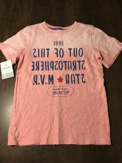 Carter's Kids Playwear Pink Graphic T-Shirt Size 7 New With