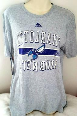 CHARLOTTE HORNETS Youth T Shirt Size XL 18 Adidas Distressed