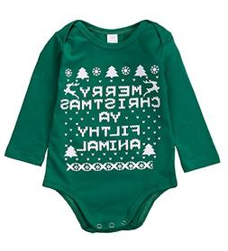 Mialoley Christmas Pajamas for Newborn Baby Boy Girls Winter