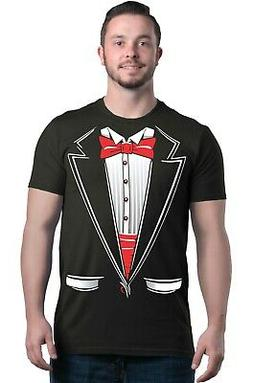 classic tuxedo t shirt cotton blend adult