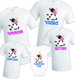 Cow Birthday T Shirt Family matching celebration reunion par
