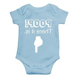 Crazy Bros Tees Poop! There It is Funny Cute Novelty Infant