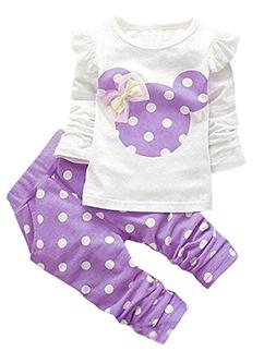 Avidqueen Cute Toddler Baby Girls Clothes Set Long Sleeve T-