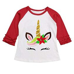 Halloween Toddler Kids Baby Girls Unicorn Pumpkin T-Shirt Lo
