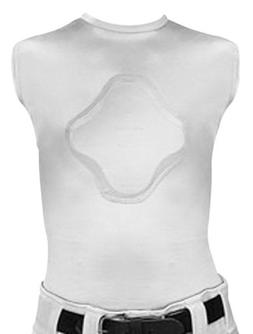 Youth XS White Heart-Guard Protective Body Shirt