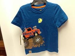 Carhartt For Kids Boys Blue Carhartt Truck T Shirt