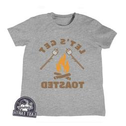 Kids Camping Shirt Lets Get Toasted, Smores Shirt Childrens