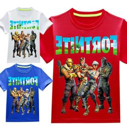 Kids Game T-shirt Summer Holiday Short Sleeve Tee Gift Prese