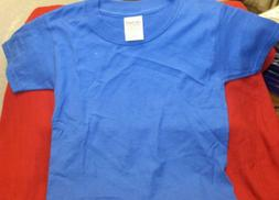 Kids Gildan Short Sleeve Tee T-Shirt ~ BLUE ~ SIZE XS  ~ NWO
