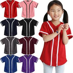 Kids T Shirts Baseball Jersey Stripe School Plain Toddler Bo