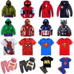 kids boys girl superhero hoodie coat sweatshirt