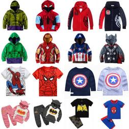 Kids Toddler Boys Long Sleeve Hoodies Coat Sweatshirt T-Shir