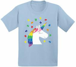 Kids Unicorn Autism Shirt for Toddler Autism Awareness Shirt