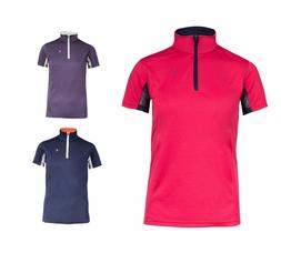 Horze Kids UV Equestrian Sport Polo Summer Shirt XS S M L XL