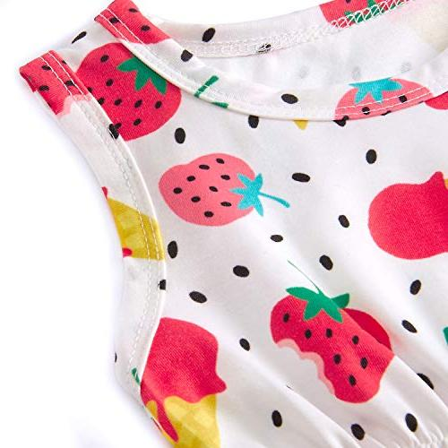 BFUSTYLE 0-3M Strawberry Romper Childlike Bodysuit Clothes Apparel