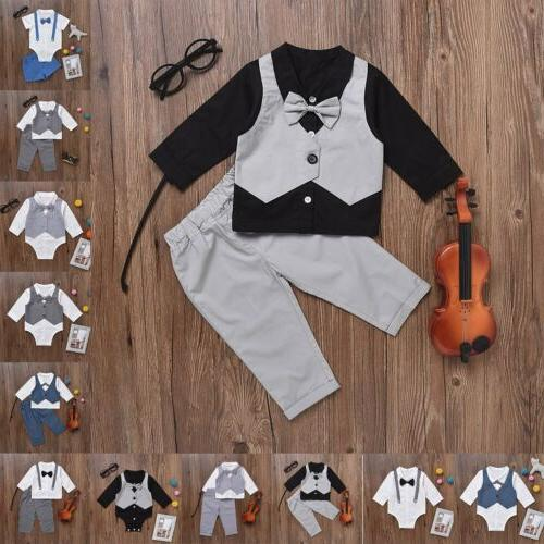 2017 Infant Baby Boys Kids Clothes Outfits Shirt Tops Pants