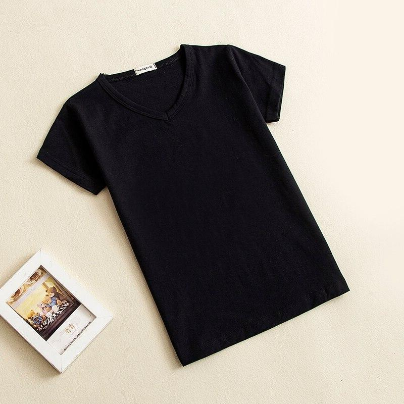 2018 Baby Short Sleeve Top Tees Black White 0-10 years