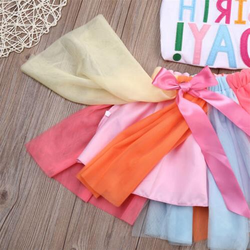 2Pcs Kids Clothing + Set Summer Tutu Outfits