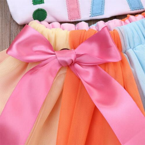 2Pcs Kids Clothing T-Shirt Skirt Set Dress