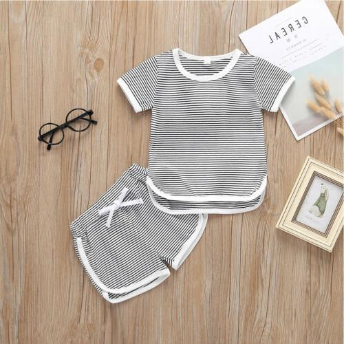 2Pcs Boy T-Shirt Pants Outfits Clothes US