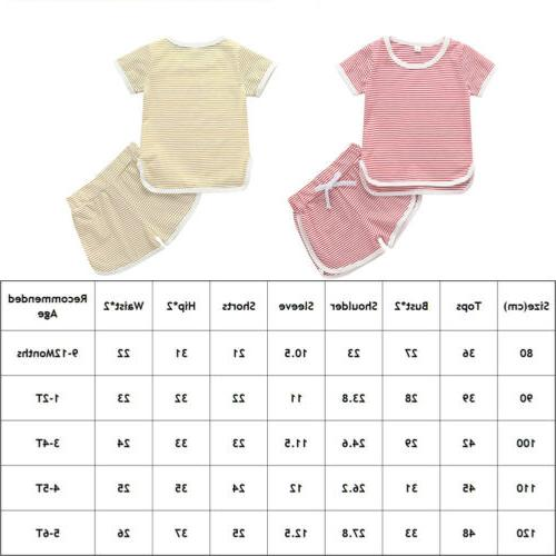 2Pcs Boy Girls Pants Outfits US