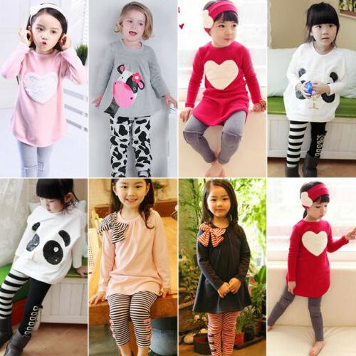2pcs toddler kids baby girls outfits clothes