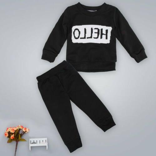 2pcs Baby Boys Clothes Outfits Tops+Pants Set