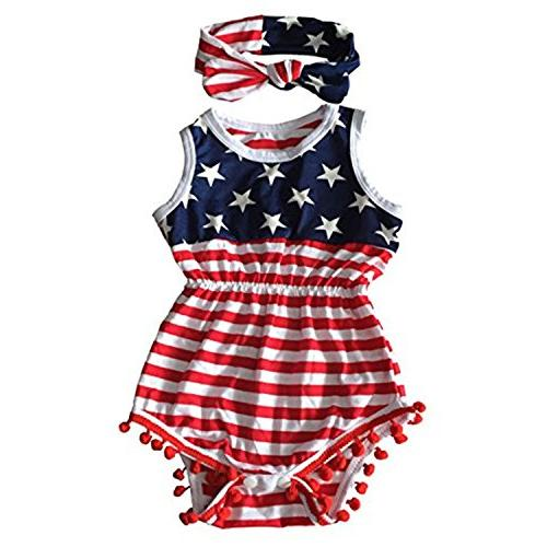 4th of july toddler baby girls american