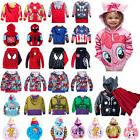 Kids Boys Girls Baby Hooded Jacket Coat Hoodie Cartoon Sweat