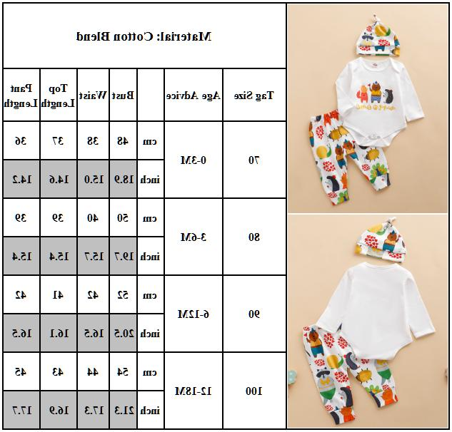 Baby Boys Animal Hat Outfits 3Pcs