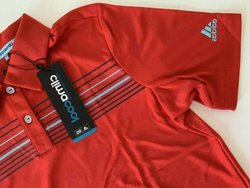Adidas Climacool Stripe Golf Polo Multi Youth