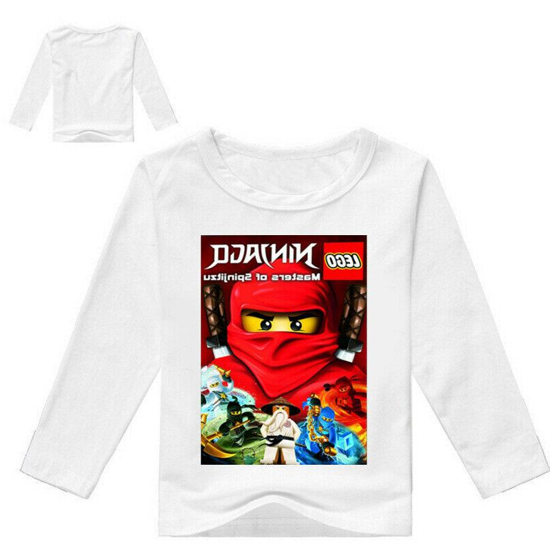 Boys Cartoon Long Sleeve T-shirt Spring