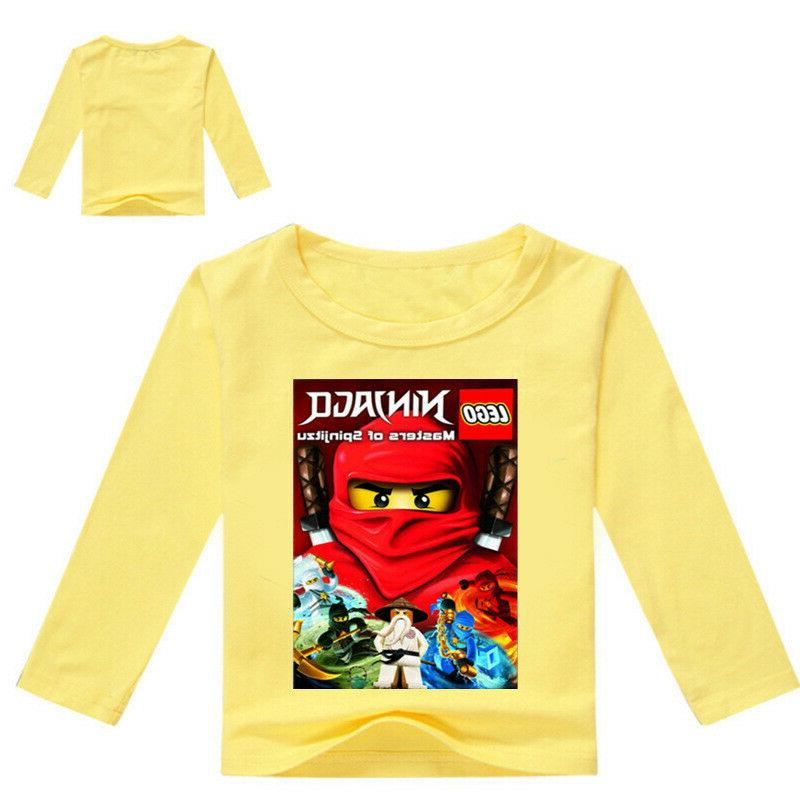 Boys Girls Ninjago Cartoon Long Spring Cotton